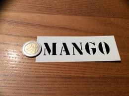 AUTOCOLLANT, Sticker «MANGO (Blanc)» (vêtements) - Pegatinas