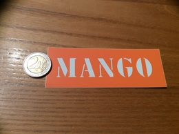 AUTOCOLLANT, Sticker * «MANGO (Orange)» (vêtements) - Pegatinas