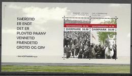DENMARK, 2020, MNH,  100 YEARS OF REUNIFICATION, HORSES, SHEETLET - Geschiedenis
