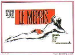 Carte Postale : Le Mépris (Brigitte Bardot - Jean-Luc Godard) - Illustration Okley (O'kley) (affiche, Film, Cinéma) - Posters On Cards