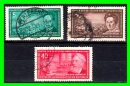 GERMANY( D.D.R..) GERMANY DEUTSCHE DEMOKRATISCHE REPUBLIK SELLOS AÑO 1955 LIDERES DEL MOVIMIENTO OBRERO - Used Stamps