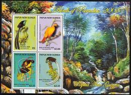 2008 Papua New Guinea Birds Of Paradise Minisheet (** / MNH / UMM) - Birds