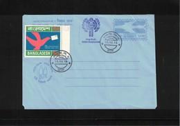 Bangladesh Children Stamp Exibition Interesting Aerogramme - Bangladesh