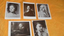 LOT DE 9 CARTES POSTALES REPRODUCTION ?....PEINTURES HOMMES CELEBRES...M.Q. DE LA TOUR VERNEZOBRE, MLLE DE CHASTAGNIER, - Paintings