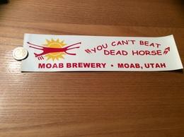 AUTOCOLLANT, Sticker «MOAB BREWERY MOAB UTAH - DEAD HORSE» (ALE, BIERE USA) - Pegatinas