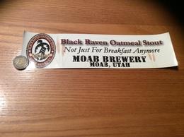 AUTOCOLLANT, Sticker «MOAB BREWERY - MOAB UTAH - Black Raven Oatmeal Stout» (ALE, BIERE USA) - Pegatinas