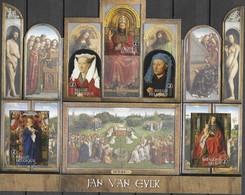 BELGIUM, 2020, MNH, RELIGIOUS ART, JAN VAN EYCK, THE ADORATION OF THE MYSTIC LAMB, TRIPTYCH, S/SHEET - Other