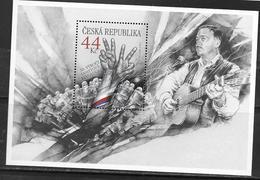 CZECHIA, CZECH REPUBLIC, 2019, MNH,JOINT ISSUE WITH SLOVAKIA, VELVET REVOLUTION, MUSIC, GUITARS, KAREL KRYL, SHEETLET - Gezamelijke Uitgaven