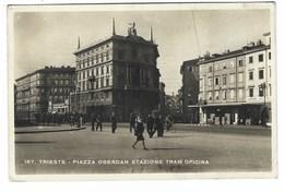 6764 - TRIESTE PIAZZA OBERDAN STAZIONE TRAM OPICINA ANIMATA 1942 - Trieste (Triest)