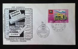 San Marino, Uncirculated FDC, « Congresso Dell'unione Stampa Filatelica Italiana », 1971 - FDC