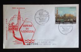 San Marino, Circulated FDC, « DIFESA DI VENEZIA », 1971 - FDC