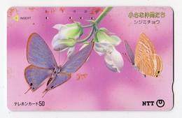 JAPON TELECARTE  PAPILLON - Butterflies