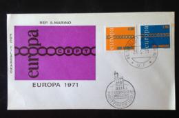 San Marino, Uncirculated FDC, « EUROPA CEPT », 1971 - FDC