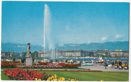 Geneve, Geneva, Breeze's Monument And Waterjet, Unused Postcard [24050] - GE Geneva