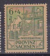 GERMANIA OCCUPAZIONE ALLEATA 1946 EMISSIONI SOVIETICHE PER LA SASSONIA (HALLE/SAALE) UNIF. 87 MLH VF - Sovjetzone