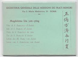 Carnet De 8 CPA, Illustration Magdalena Liu Yen-ping, Missioni Dei Frati Minori - Christianity