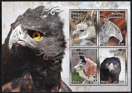2013 Peru Eagles Minisheet (** / MNH / UMM) - Aigles & Rapaces Diurnes
