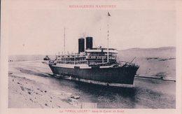 Paquebot  PAUL LECAT Des Messageries Maritimes Dans Le Canal De Suez (902) - Steamers