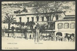 GIBRALTAR The Library Old Postcard (see Sales Conditions) 01995 - Gibraltar