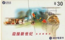 TARJETA TELEFONICA DE CHINA. Welcome The New Century. 2001-06-30. J99-5-(4-3). (1430) - China