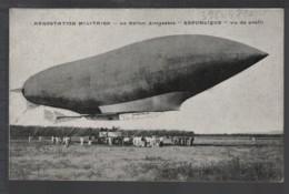 AEROSTATION MILITAIRE - Le Ballon Dirigeable REPUBLIQUE Vu De Profil - Airships