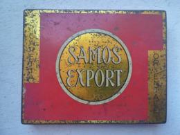 RARISSIMA SCATOLA METALLICA 50 SIGARETTE SAMOS EXPORT MANIFATTURA ZARATINA SIGARETTE 1935 - Tabaksdozen (leeg)