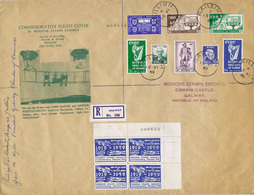 Ireland Airmail 1959 Missions Stamps Exports Souvenir Cover Galway GAILLIMH 15 VI 59 Signed By Mayor Of Galway - Luchtpost
