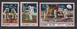 DUBAI Scott # 118a-c Used - Space - Moon Landing - Dubai