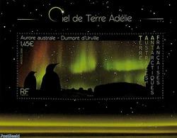 French Antarctic Territory 2020 Aurore Adélie S/s, (Mint NH), Penguins - Astronomy & Astrology - Französische Süd- Und Antarktisgebiete (TAAF)