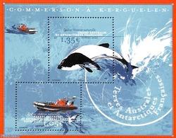 French Antarctic Territory 2020 Commerson, Whale S/s, (Mint NH), Ships And Boats - Sea Mammals - Franse Zuidelijke En Antarctische Gebieden (TAAF)
