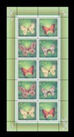 Kazakhstan 1996 Mih. 139/42 Fauna. Butterflies (M/S) MNH ** - Kazakhstan