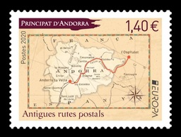 Andorra (FR) 2020 Mih. 864 Europa. Ancient Postal Routes MNH ** - Unused Stamps