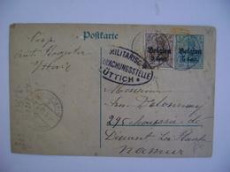 "BELGIUM / BELGIQUE - ENTIRE POSTAL SENT TO NAMUR MILITARY STAMP ""LUTTICH"" IN 1917 (?) IN THE STATE - [OC1/25] Gen.reg."