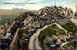 California Riverside Sunrise Services Easter Sunday Mount Rubidoux 1922 Curteich - United States