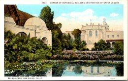 California San Diego Balboa Park Corner Of Botanical Building And Portion Of Upper Lagoon - San Diego