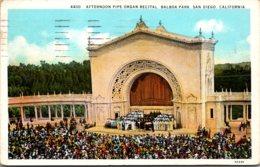 California San Diego Balboa Park Afternoon Pipe Organ Recital 1931 - San Diego