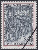 Specimen, Austria Sc1393 Work-Men-Machines, Provincial Exhibition, Factory, 1920 - Fabriken Und Industrien