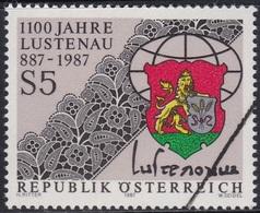 Specimen, Austria Sc1398 Lustenau 1100th Anniversary, Lace - Textile