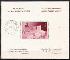 BL8*  Monument Albert Ier - MH* - LOOK!!!! - Blokken 1924-1960