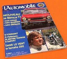 L' Automobile  (Août 1973)   N° 327   Nouveau La Simca TI - Auto