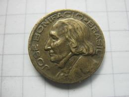 Brasil , 10 Centavos 1953 - Brésil