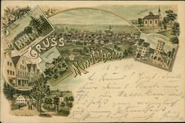 AK Gruss Aus Mindelheim Mayenbad, Weinstube Kleinheinz, Freundsberg, Eichkapelle, Einlassthor, Weg Zum Mayenbad (5-194) - Mindelheim