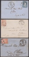 GE  GENEVE - OLLON  /  3 STRUBEL BRIEFE /  G STRUBEL - Covers & Documents