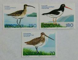 122. FAROE ISLANDS 1977 SET/3 STAMP BIRDS. MNH - Faeroër