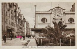 PHOTO : Livorno : Via  Del Carabinieri,  Photo Of Old Postcard, 2 Scans - Lieux