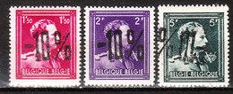 724N/P**  Leopold III Col Ouvert Surchargé -10% - LA LOUVIERE - Série Complète - MNH** - LOOK!!!! - 1946 -10%