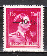 724N**  Leopold III Col Ouvert Surchargé -10% - LIEGE 11 - MNH** - LOOK!!!! - 1946 -10%
