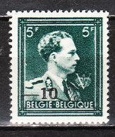 724P**  Leopold III Col Ouvert Surchargé -10% - LIEGE 11 - MNH** - LOOK!!!! - 1946 -10%