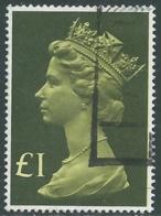 1977 GRAN BRETAGNA USATO EFFIGIE REGINA ELISABETTA II ALTI VALORI 1 £ - RC52-6 - 1952-.... (Elisabetta II)