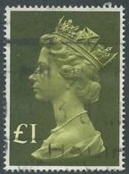 1977 GRAN BRETAGNA USATO EFFIGIE REGINA ELISABETTA II ALTI VALORI 1 £ - RC52-8 - 1952-.... (Elisabetta II)